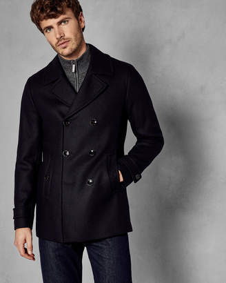 Ted Baker GRILLD Double breasted wool pea coat