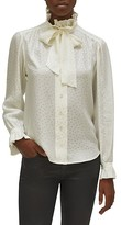 Thumbnail for your product : Equipment Loudette Illusion Polka Dot Tie-Neck Silk Blouse