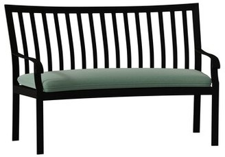 Caruso Woodard Cortland Crescent Garden Bench Woodard Cushion Color Seaglass, Frame Color: Textured Black