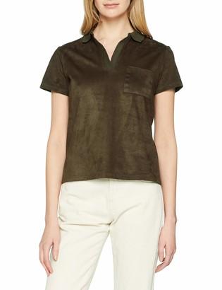 Yargıcı Yargc Womens 9YKTS9015X Polo Short Sleeve T - Shirt - Green - Medium