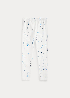 Ralph Lauren Paint-Splatter Jersey Legging