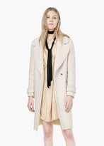 Mango Outlet Wide Lapel Wool-Blend Coat