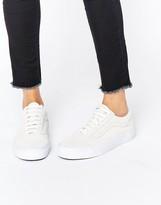 Vans Old Skool Cream Faux Croc Sneakers