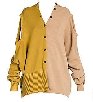 Marni Women's Shetland Colorblock Wool Convertible Cardigan