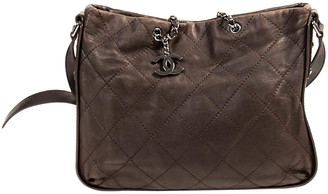 Chanel Brown Quilted Soft Leather Tote Bag