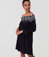 LOFT Circle Lace Off The Shoulder Dress