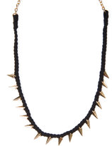 Woven spikes necklace