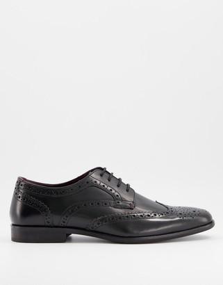 Walk London alfie brogues in black leather