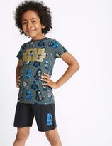Marks and Spencer Pure Cotton Star WarsTM Short Pyjamas (5-16 Years)