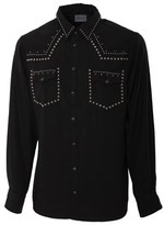 Laneus Men's Black Cotton Shirt.