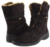 ara Magaly GORE-TEX(r) (Black Synthetic Suede w/ Beige Fur Trim) Women's Lace-up Boots