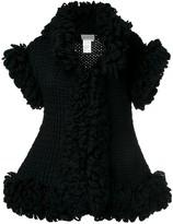 Yohji Yamamoto Pre Owned knitted sleeveless ruffle jacket