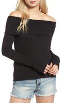 Pam & Gela Women's Off The Shoulder Sweatshirt