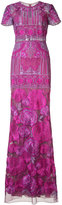 Marchesa floral print maxi dress - women - Nylon - 6