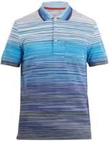 Missoni Contrast-collar cotton polo shirt