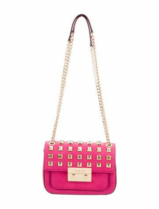 MICHAEL Michael Kors Studded Saffiano Shoulder Bag Fuchsia