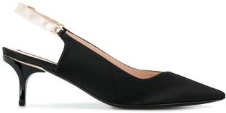 No.21 slingback mid heel pumps