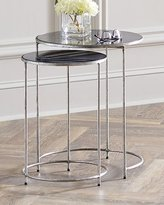 Interlude Cyder Round Nesting Tables, Set of 2