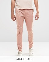 Asos Tall Skinny Chinos In Pink