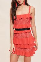 For Love & Lemons Red Ruffle Dress