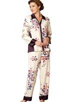 Julianna Rae Jewel Garden Women's 100% Silk Pajama