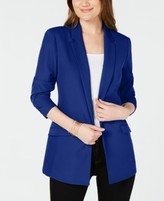 INC International Concepts Inc Petite Ruched-Sleeve Blazer, Created for Macy's