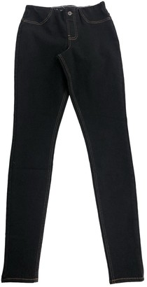 KENDALL + KYLIE Black Cotton Trousers for Women
