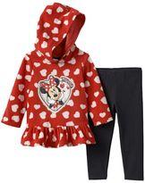 Disney Disney's Minnie Mouse Baby Girl Hooded Fleece Tunic & Leggings Set