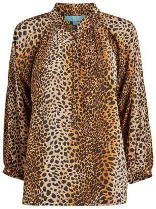 Melissa Odabash Cheetah Print Lauri Shirt