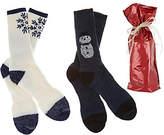 Catawba Sox Catawba Set of 2 Merino Wool Blend Socks withGift Bag