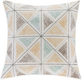 Bed Bath & Beyond INK+IVY Zelda Embroidered Square Throw Pillow in Blue