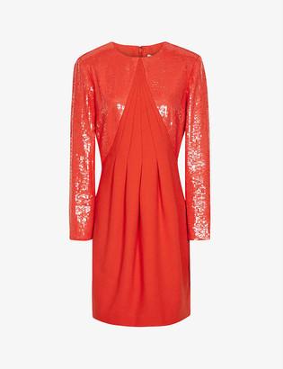 Reiss Cara flared sequinned mini dress