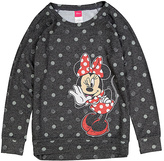 Jerry Leigh Minnie Mouse Black Polka Dot Pullover - Girls