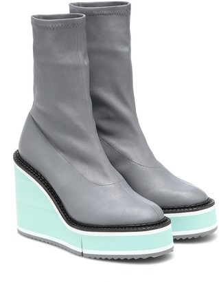 Clergerie Bliss leather platform boots