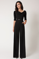 Black Halo 3/4 Sleeve Jackie Jumpsuit
