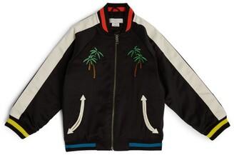 Stella McCartney Kids Embroidered Satin Bomber Jacket (4-14 Years)
