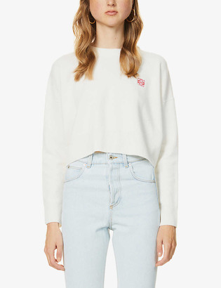 Loewe Anagram-embroidered crop wool jumper