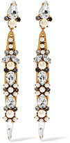Erickson Beamon Born Again Gold-plated, Swarovski Crystal And Faux Pearl Earrings - One size