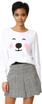 Wildfox Couture Polar Bear Emoji Sweatshirt
