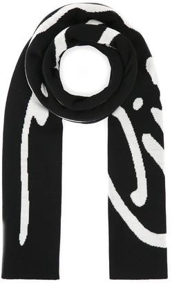 Versace Logo Jacquard Scarf