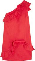 MSGM Ruffled cotton-blend faille dress