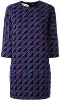 Marni rhythm print shift dress - women - Silk/Virgin Wool - 46