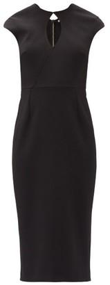 Roland Mouret Chiswell Keyhole-neckline Crepe Midi Dress - Black