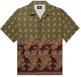 Stussy Camp-Collar Paisley-Print Woven Shirt