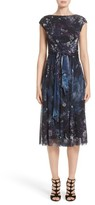 Fuzzi Women's Floral Print Tulle Belted Dress
