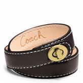 Leather Double Wrap Turnlock Bracelet