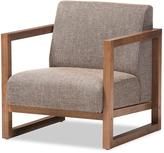 Baxton Studio Walnut & Gravel Valencia Mid-Century Modern Chair