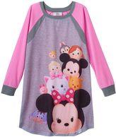 Disney Disney's Tsum Tsum Girls 4-12 Raglan Dorm Nightgown