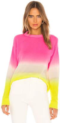 Alice + Olivia Gleeson Cashmere Blend Dip Dye Long Sleeve Pullover