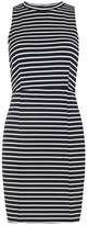 Dorothy Perkins Navy and white fitted dress